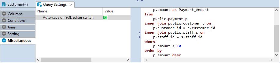 Visual Query Builder - 《DBeaver General User Guide》 - 书栈网