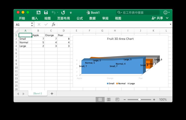 """""""使用 Go 语言在 Excel 文档中创建三维面积图"""""""