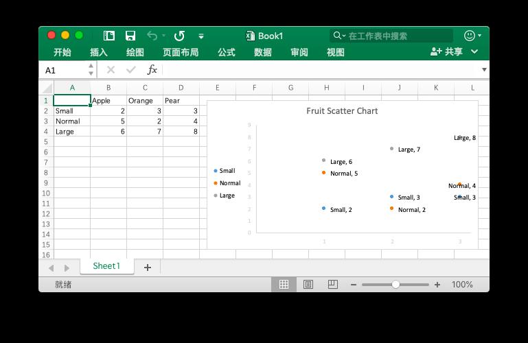 """""""使用 Go 语言在 Excel 文档中创建散点图"""""""