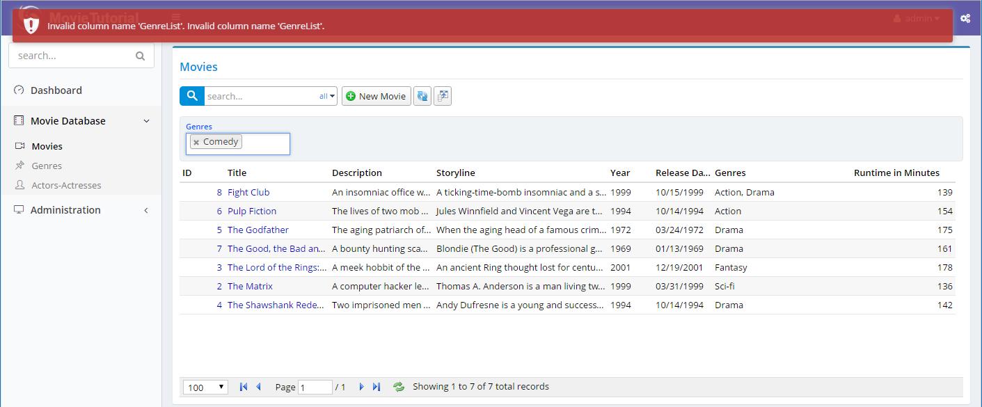 Filtering with Multiple Genre List - 《Serenity Developer Guide(英文